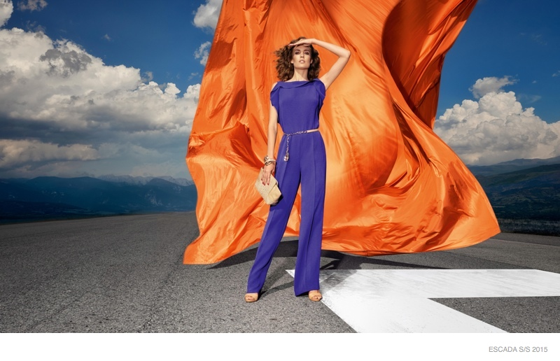 Nadja Bender Stars in ESCADA Spring 2015 Ads
