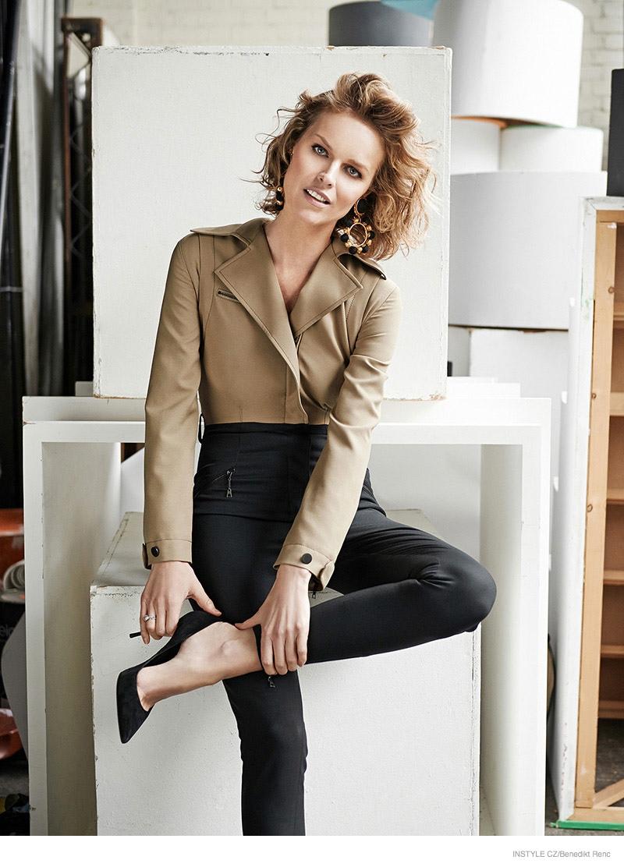 eva herzigova wears effortless style for instyle czech by