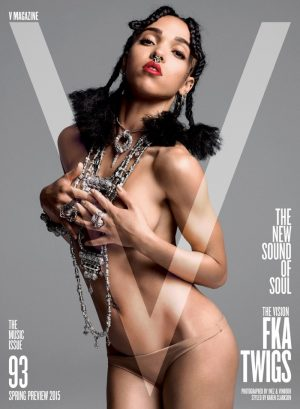 FKA Twigs Goes Topless for V Magazine Cover