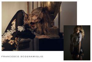 Karmen Pedaru Goes Sheer in Francesco Scognamiglio Spring 2015 Ads