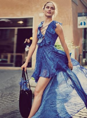 Karmen Pedaru Goes on a Roman Holiday for Free People's February Campaign