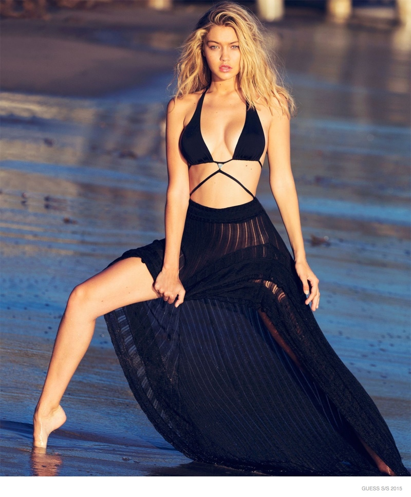 GIGI HADID: A relative fresh face to the world of swimsuit modeling, Gigi Hadid has appeared in campaigns for Guess, Seafolly and Seafolly. In 2015, she was named a brand ambassador for cosmetics brand Maybelline.