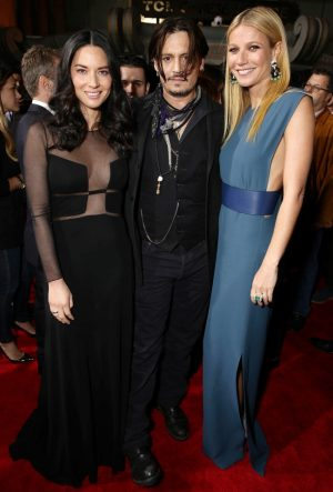 "Gwyneth Patlrow + Olivia Munn's Style at the ""Mortdecai"" Los Angeles Premiere"