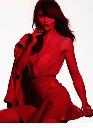 Helena Christensen is Red Hot in Marie Claire Mexico by Hunter & Gatti