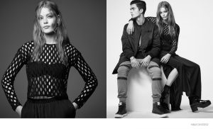 Hollie-May Saker Dons Dark Style for H&M Divided Shoot