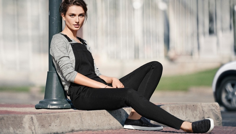 Andreea Diaconu Wears 'Structured Softness' for H&M Trend Update