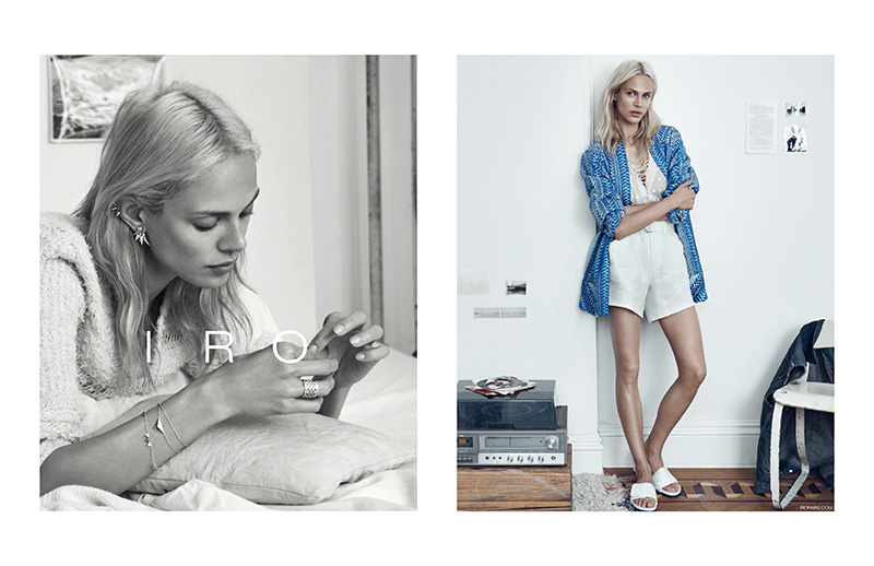 Aymeline Valade is the Face of IRO's Spring 2015 Ads