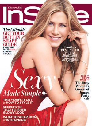 Jennifer Aniston Covers InStyle February 2015 in Valentino