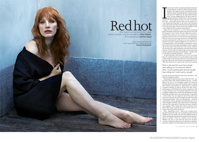 Jessica Chastain Red Hot Moody Shoot