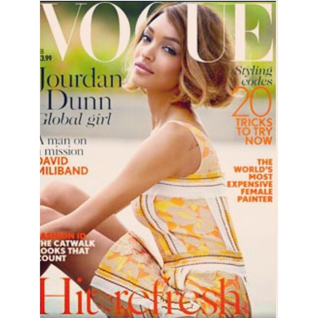Jourdan Dunn Lands Vogue UK Cover, First Solo Black Model Cover in 12 Years
