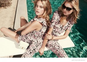 Cato & Camille Go Poolside for Juicy Couture Spring '15 Shoot