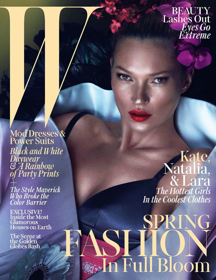 Kate Moss for W Magazine March 2013 Cover by Mert & Marcus