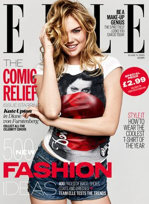 Kate Upton, Keira Knightley, Daisy Lowe Pose on Special ELLE UK x Red Nose Day Covers!