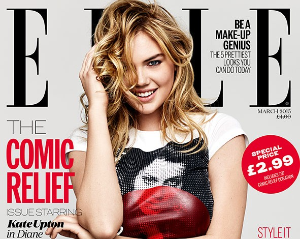 kate-upton-elle-red-nose-day-cover-2015