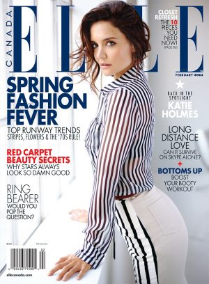 "Katie Holmes Covers ELLE Canada, Talks ""Dawson's Creek"""