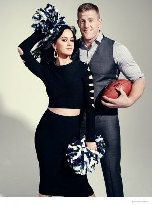 Katy Perry Preps for Super Bowl Performance with ESPN the Magazine Cover