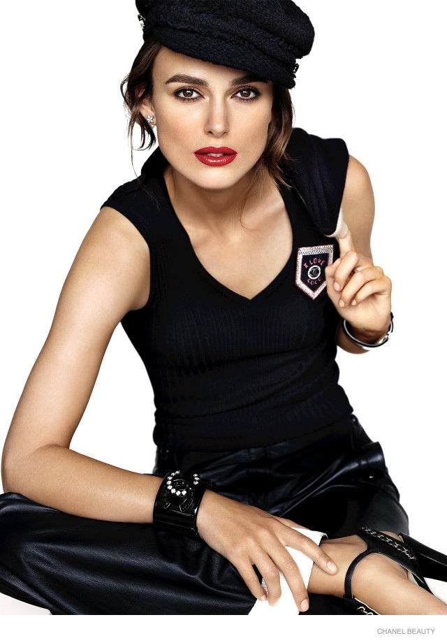Keira Knightley for Chanel's Coco Rouge makeup campaign