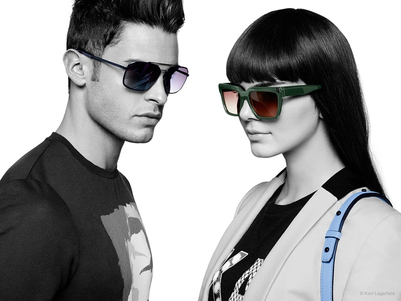 kendall jenner pops in karl lagerfeld u2019s spring 2015 ad campaign