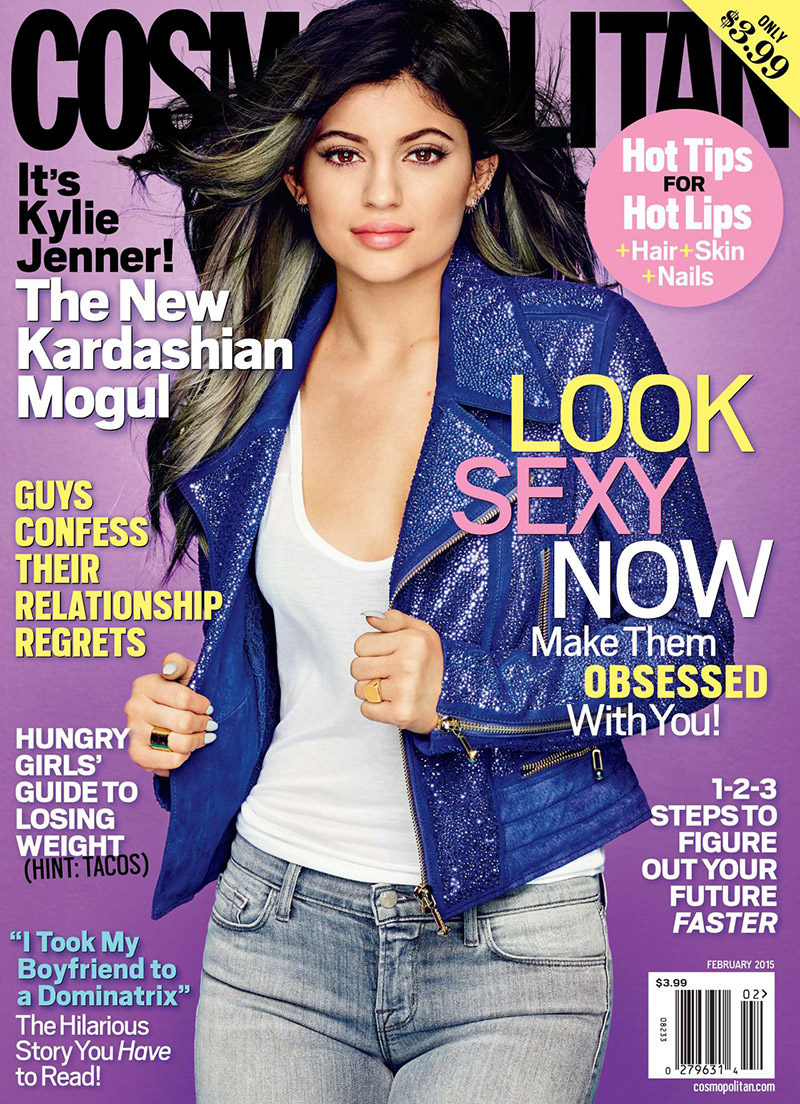 Kylie Jenner Covers Cosmopolitan, Addresses Plastic Surgery Rumors