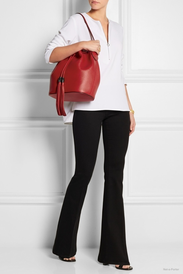 Trending: 6 Leather Bucket Bags with Drawstrings