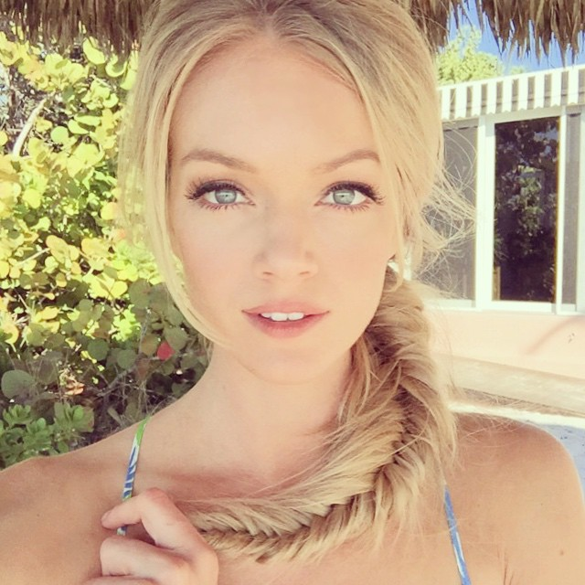 Lindsay Ellingson shares a braided hairstyle
