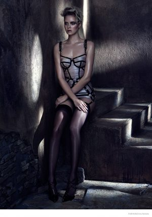 Masha in Vintage Inspired Lingerie for FASHION Magazine by Chris Nicholls