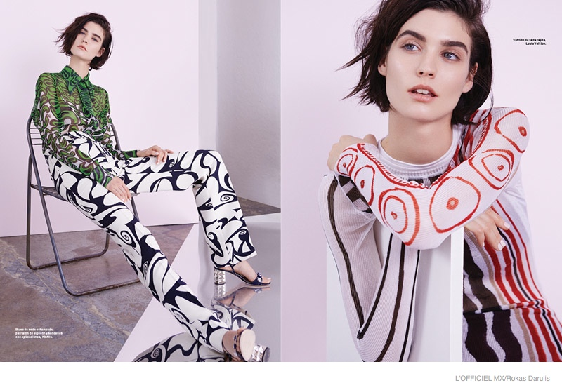 Manon Leloup Takes On Colorful Resort Designs for L'Officiel Mexico