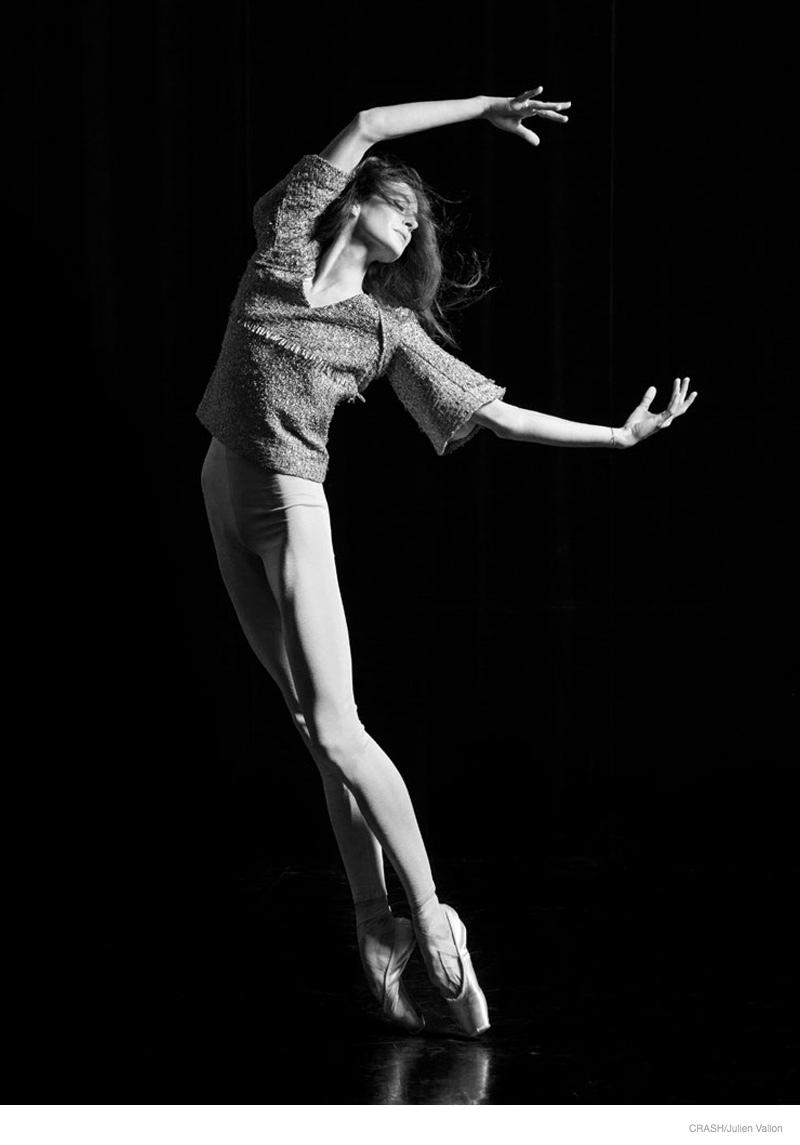 Ballet Dancer Marie-Agnes Gillot Poses for Julien Vallon in Crash Magazine