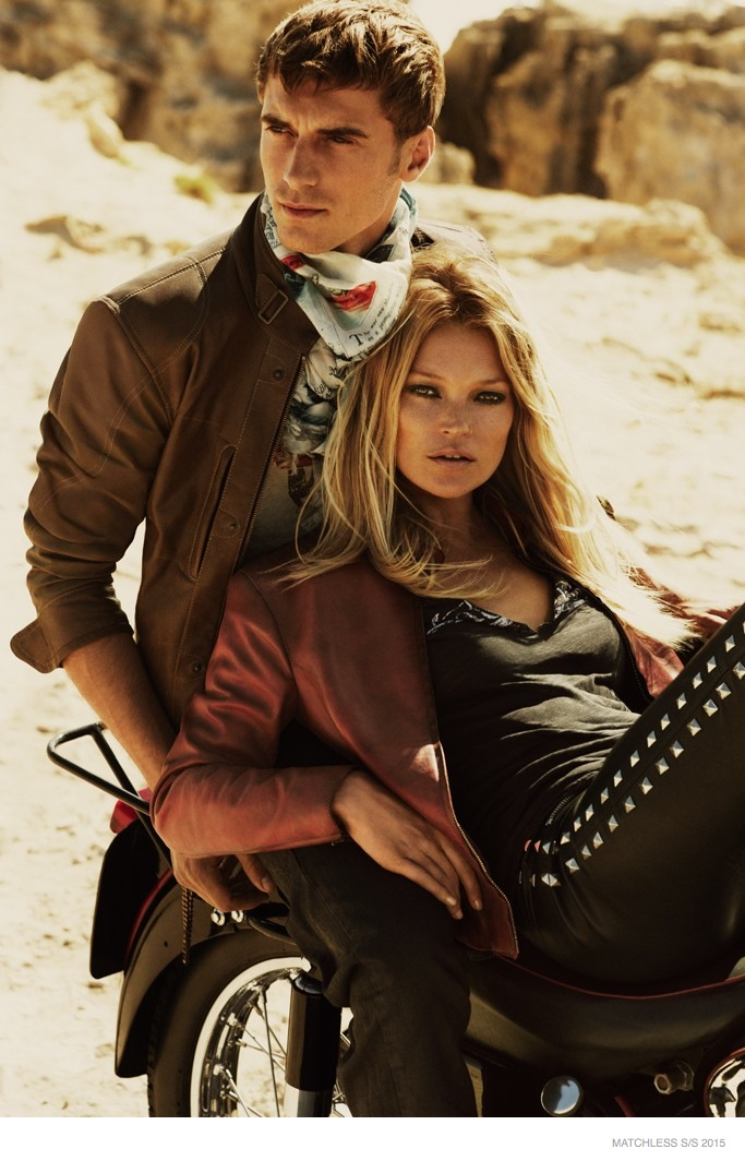 Kate Moss is Back for Biker Chic Matchless Spring '15 Ads