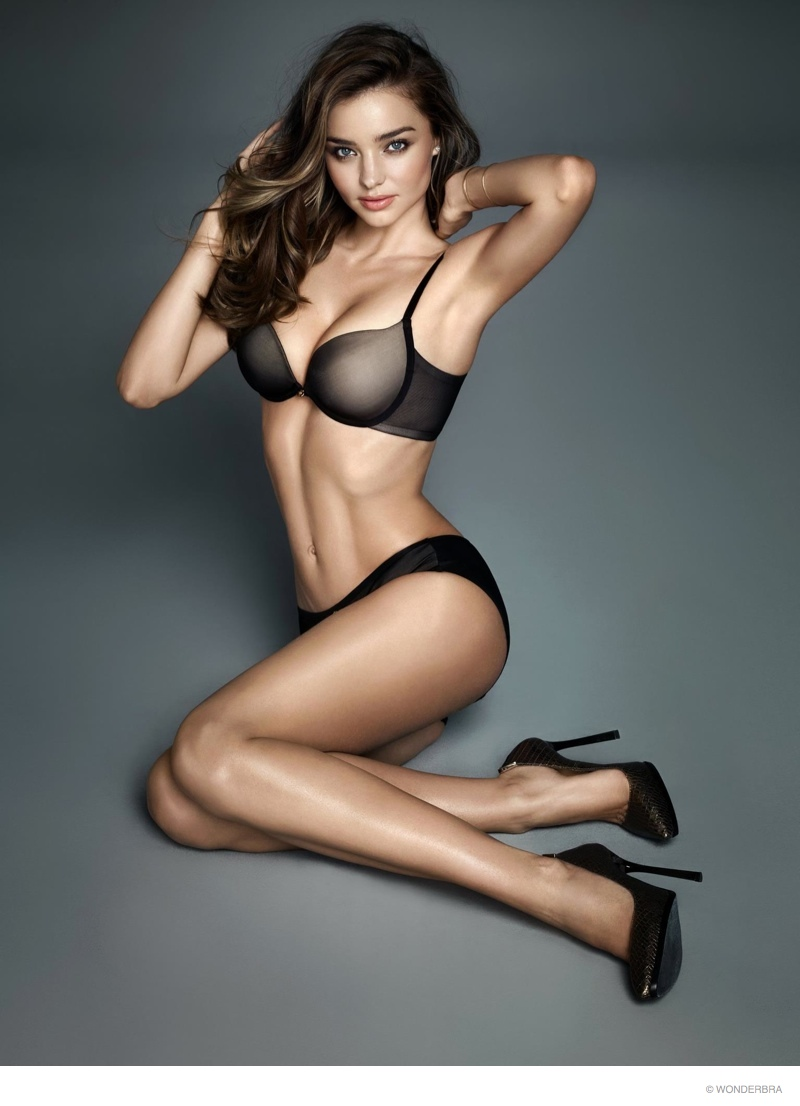 Miranda Kerr Flaunts Figure in New Wonderbra Photos