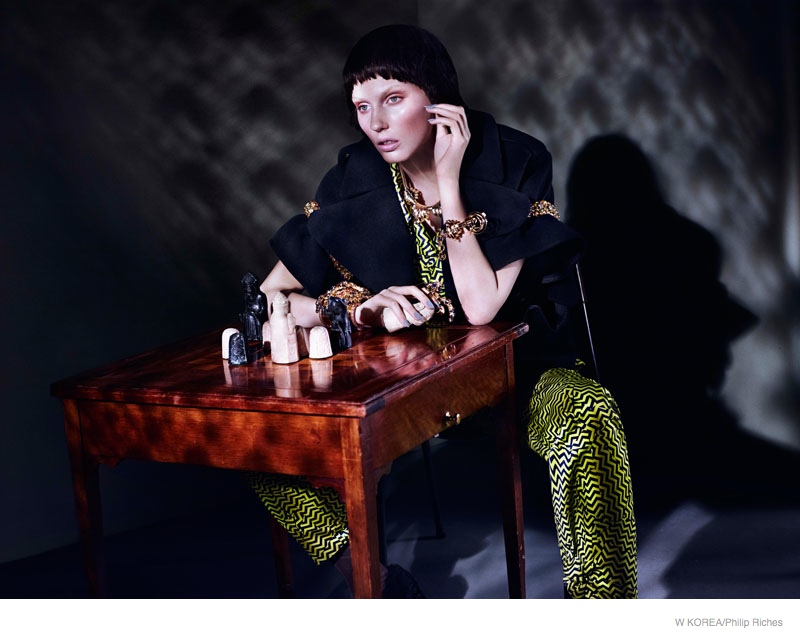 Dark & Mysterious Fashion Featured in W Korea by Philip Riches