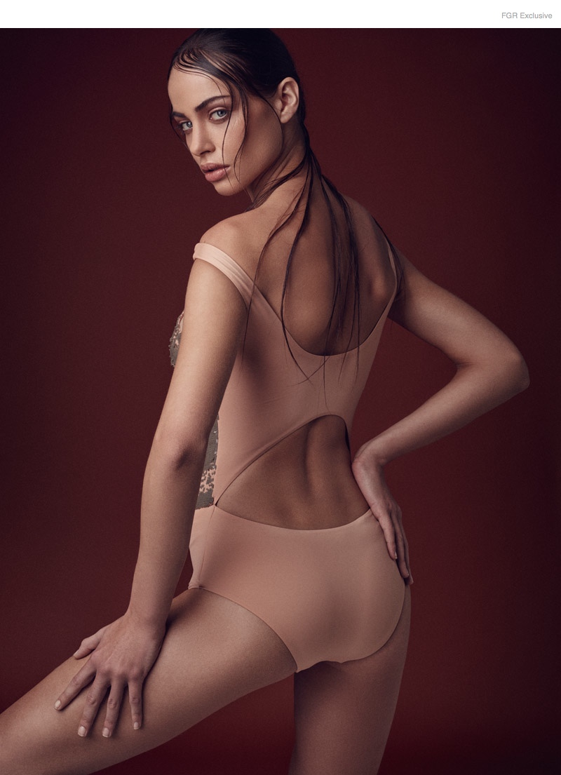 (This Image & Next) Bodysuit La Perla available at Bal Harbour