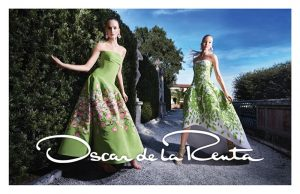 Daria Strokous, Sasha Luss Star in Oscar de la Renta's Colorful Spring 2015 Ads