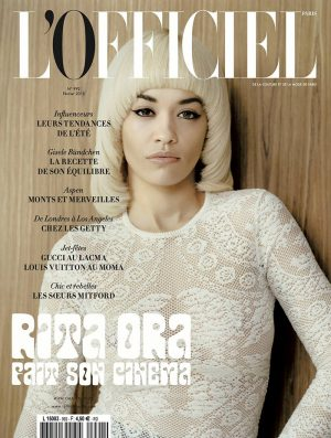 Rita Ora Sports 1970s Bowl Haircut on L'Officiel Paris Cover