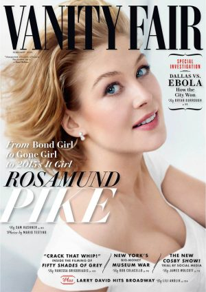 "Rosamund Pike Covers Vanity Fair, Gives Details on ""Gone Girl"" Sex Scene"