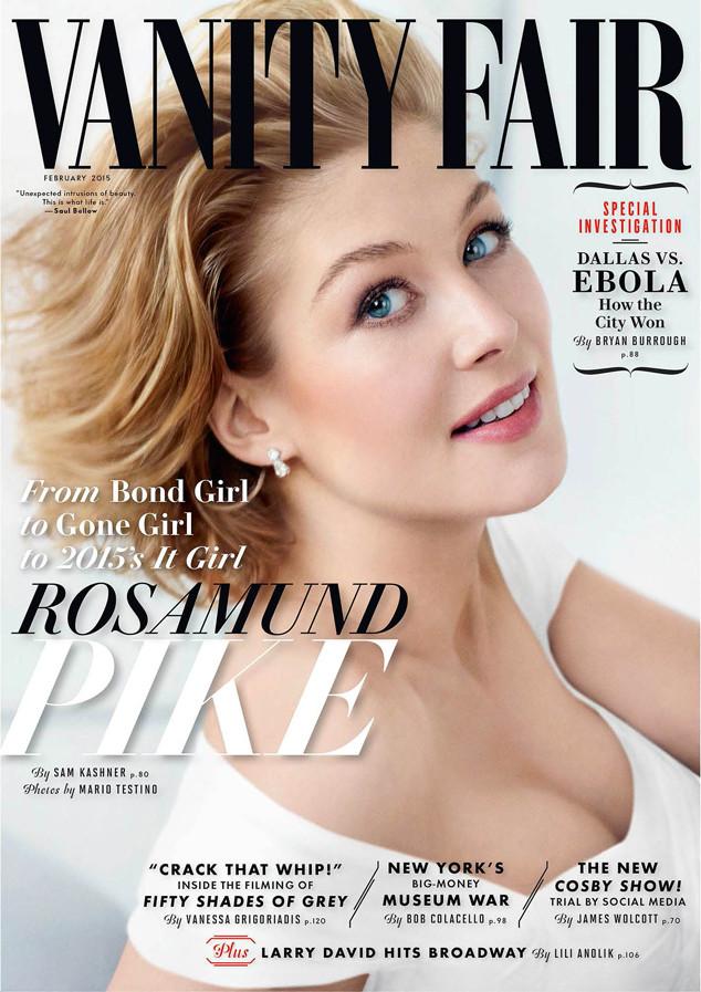 "Rosamund Pike Covers Vanity Fair, Gives Details on ""Gone Girl"" Sex Scene"