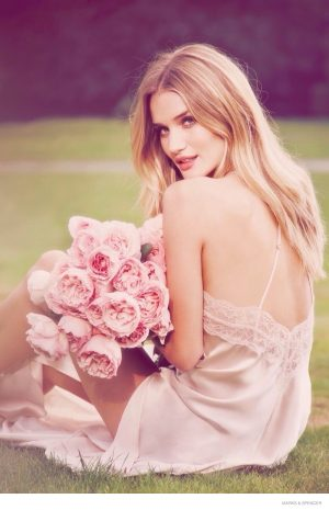 Rosie Huntington-Whiteley Poses with Flowers for Dreamy Autograph Fragrance Images