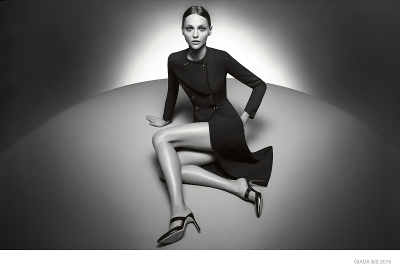 Sasha Pivovarova Poses in Black & White for Glada's Spring 2015 Campaign