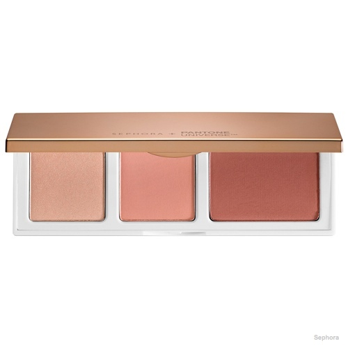 Sephora + Pantone Universe Shimmering Marsala Cheek Trio available for $28.00
