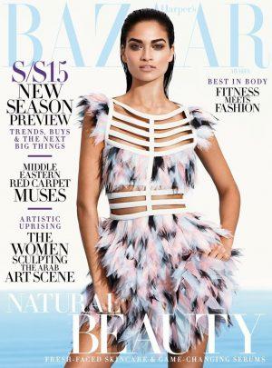 Shanina Shaik Wows in Fendi for Harper's Bazaar Arabia Cover
