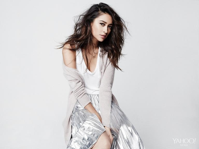 Pretty Little Liars Shay Mitchell Poses For Yahoo Style Talks Lesbian Role