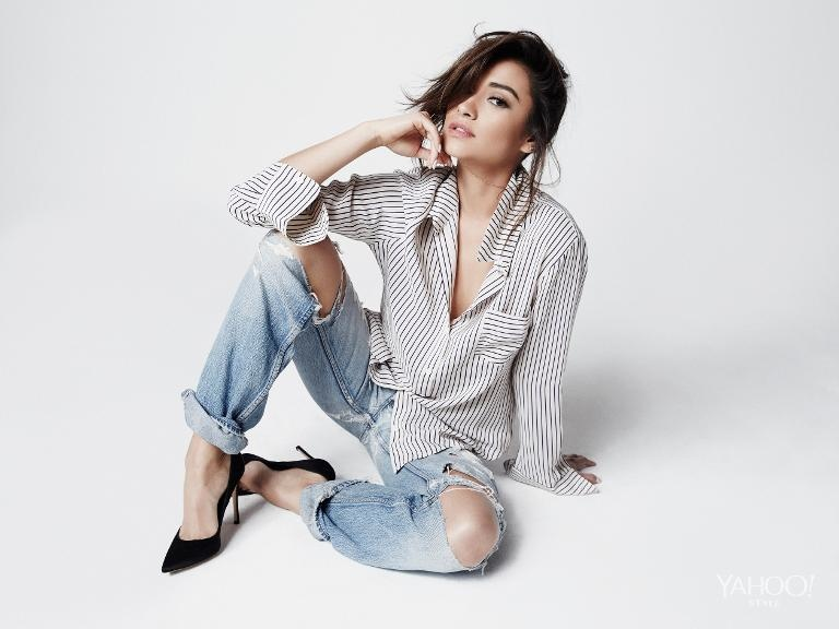 Pretty Little Liars Shay Mitchell Poses For Yahoo Style
