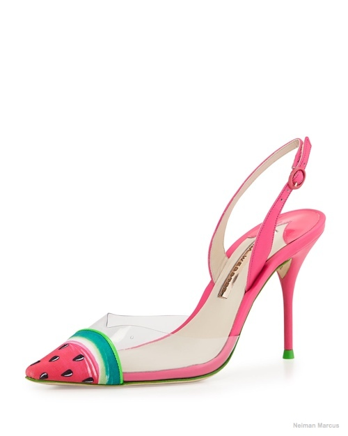 Sophia Webster 'Daria' Watermelon Slingback Pump available for $395.00