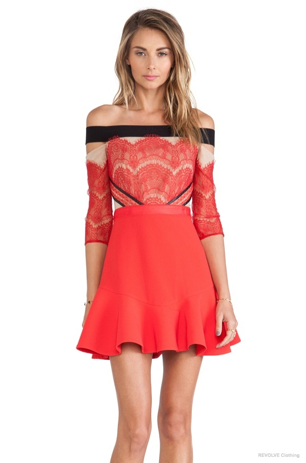 Three Floor x REVOLVE 'Kloss Up' Dress in Red