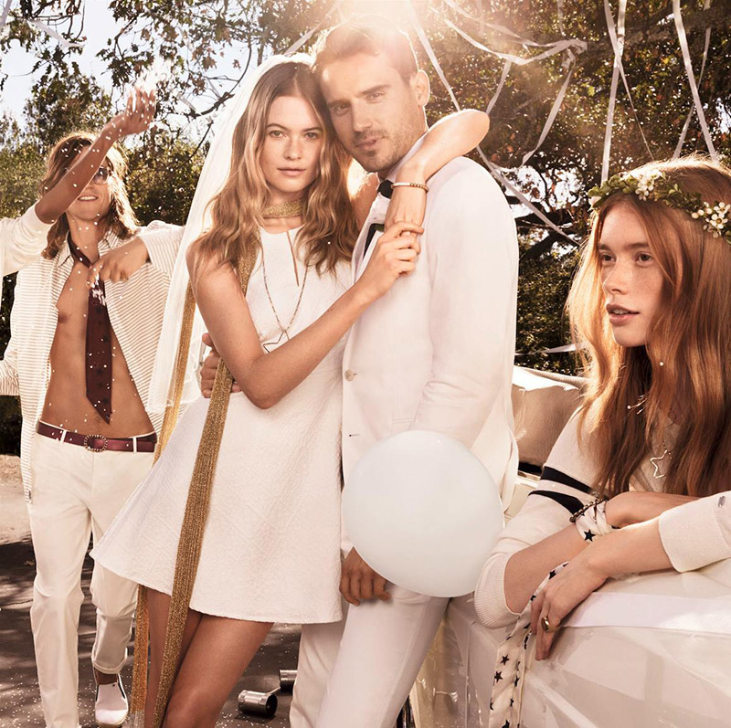 Behati Prinsloo Has a White Wedding for Tommy Hilfiger Spring 2015 Campaign
