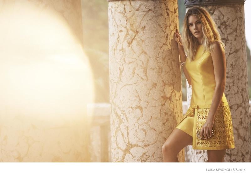 Tori Praver Models Day Wear in Luisa Spagnoli Spring 2015 Ads