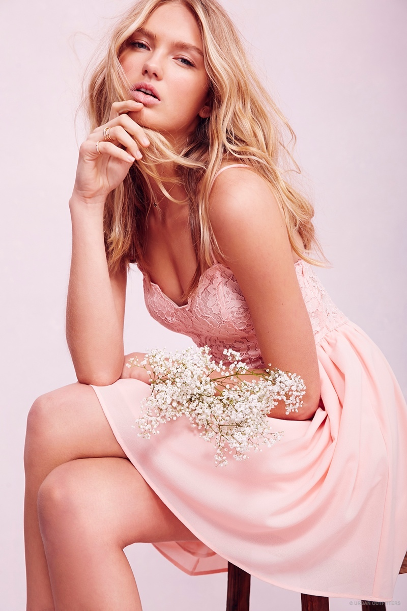 Romee Strijd Wears Valentine s Day Dresses   Lingerie for Urban ... 2e7741c06
