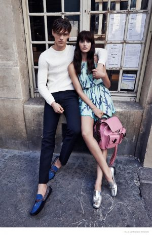 Zuzana Gregorova Gets Romantic in Paris for ELLE Czech by Branislav Simoncik