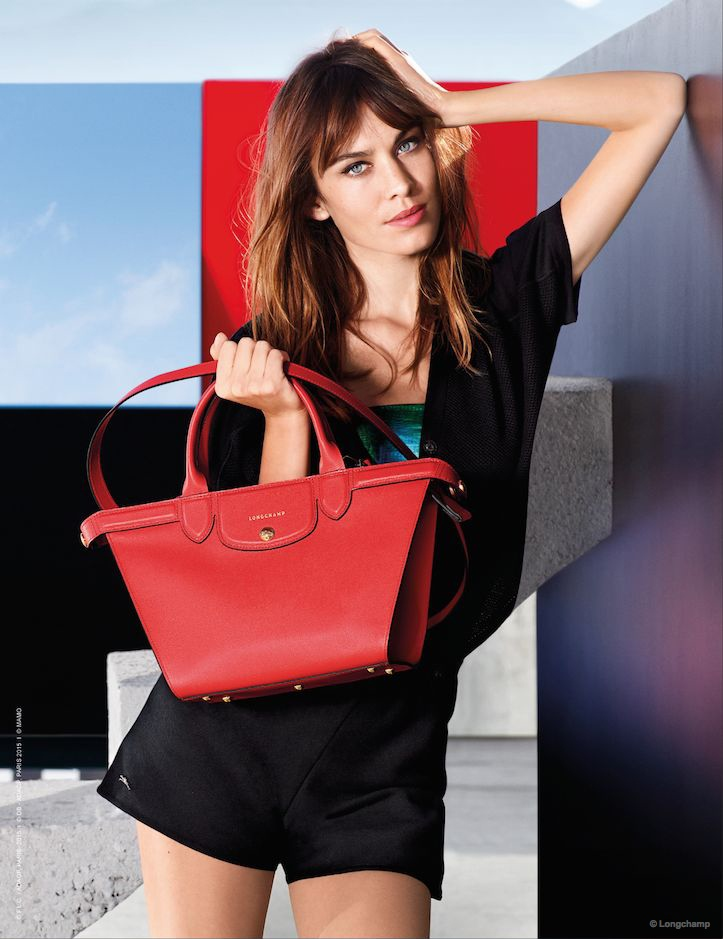 Alexa Chung Fronts Colorful Longchamp Spring '15 Ads