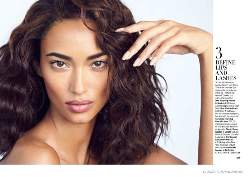 Anais Mali Wears the Bare Makeup Look for Glamour UK by Max Abadian